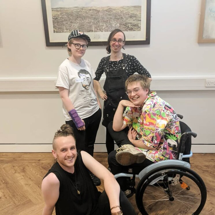 The four Non-Binary Leeds organisers