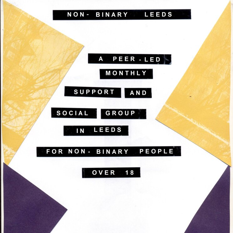 Poster for the monthly support group